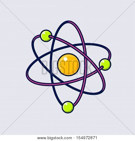 Atom icon. Illustration of atom vector icon for web design.