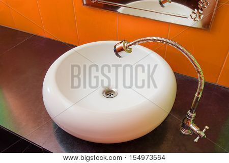 Sink. White Sink. Bathroomsink. Washstand. Wash-basin. Basin. Bathroom Sink. White Washbasin. Hotel
