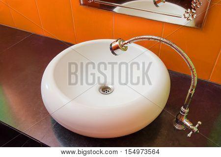 Sink. White Sink. Bathroomsink. Washstand. Wash-basin. Basin. Bathroom Sink. White Washbasin. Hotel