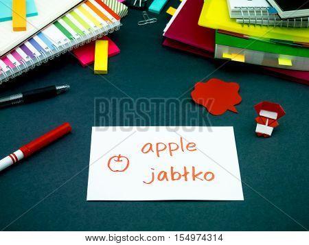 Learning New Language Making Original Flash Cards; Polish