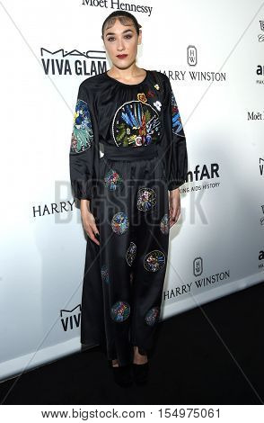 LOS ANGELES - OCT 27:  Mia Moretti arrives to the amFAR's Inspiration Gala on October 27, 2016 in Hollywood, CA
