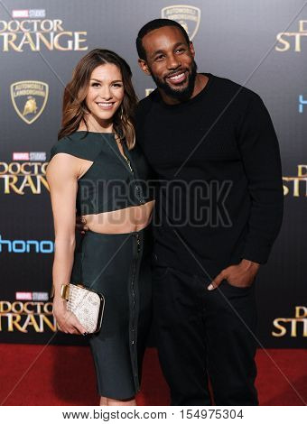 LOS ANGELES - OCT 20:  Allison Holker and Stephen 'tWitch' Boss arrives to the