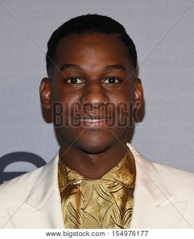 LOS ANGELES - OCT 24:  Leon Bridges arrives to the InStyle Awards 2016 on October 24, 2016 in Hollywood, CA
