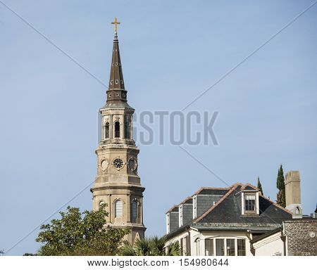 Historic Charleston, South Carolina and St Philips Church