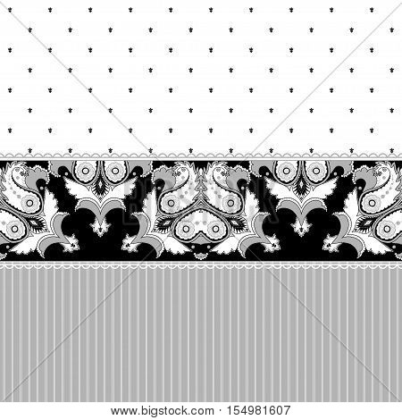 Abstract vector background. Two simple background and border. Oriental pattern with paisley stripes and decorative items. Ample opportunities for use. Easily edit the colors.