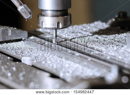 drilling machine in a factory in action