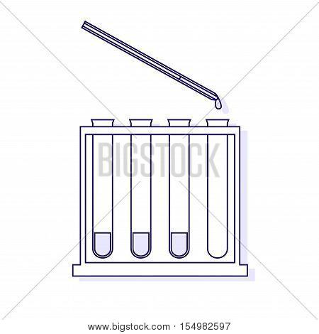 Vector illustration of immunological tests. Vector outlined illustration.