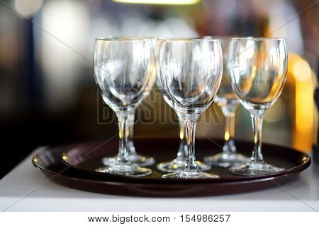 Wine Glasses During Some Festive Event