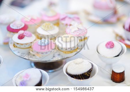 Delicious Colorful Cupcakes For Wedding Reception