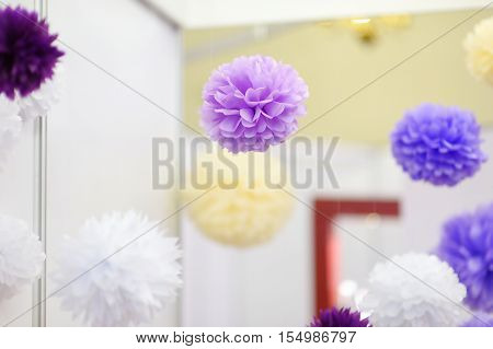 Tissue Pompoms For A Party