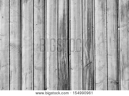 Black And White Old Wooden Fence Texture.