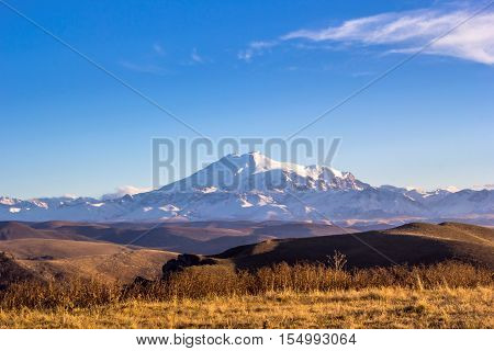 snow tops, Mount Elbrus, wild nature, landscape