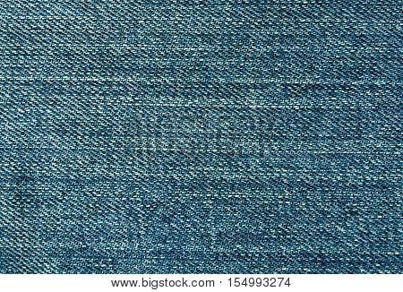 Cyan Color Jeans Textile Surface.