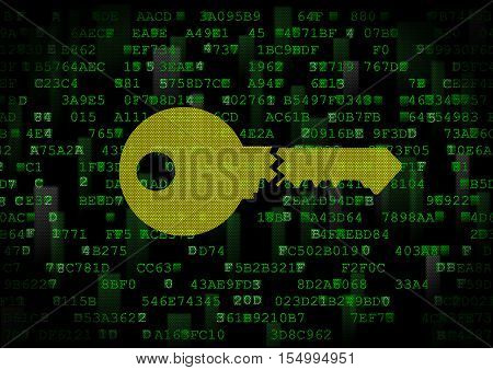 It is a symbol of a wrong digital key. This is a computer security theme.