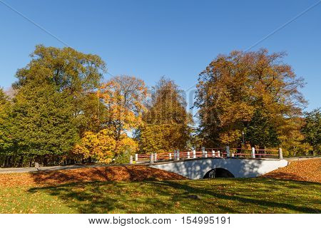 Beautiful  landscape -  Urban  autumn  landscape in Ventspils