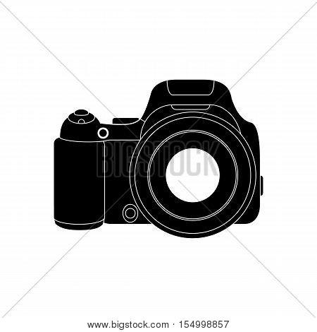 A camera digital professional, digital SLR. Icon, symbol, sign of the camera.