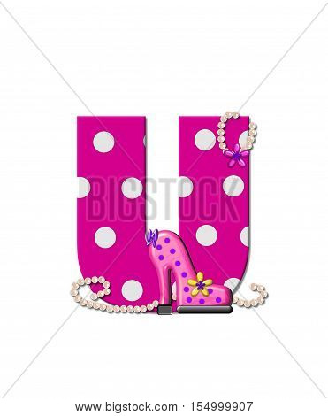 Alphabet Shoe Dive U