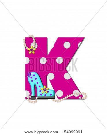 Alphabet Shoe Dive K
