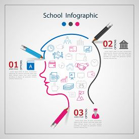 infographics Creative with drawing / graphic or website layout vector.