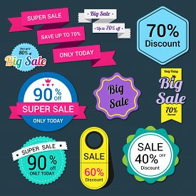 Set of sale banner. Sale Labels. banner template vector .