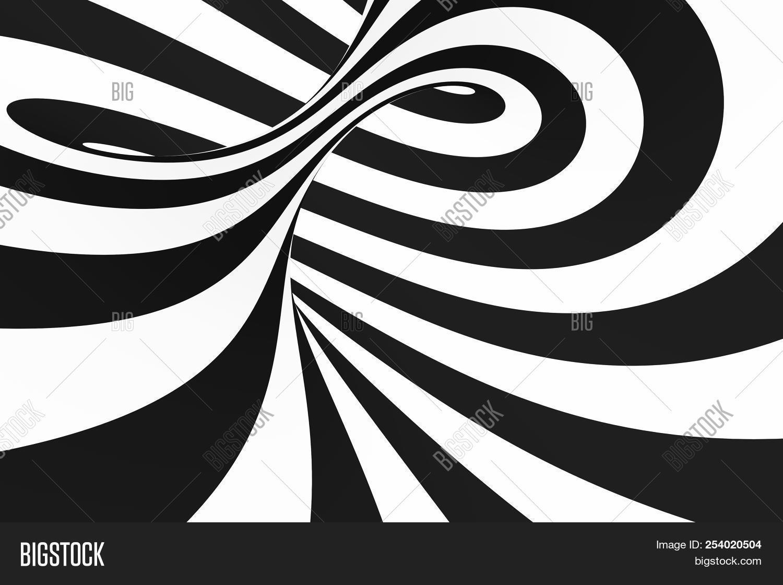 Black white spiral image photo free trial bigstock