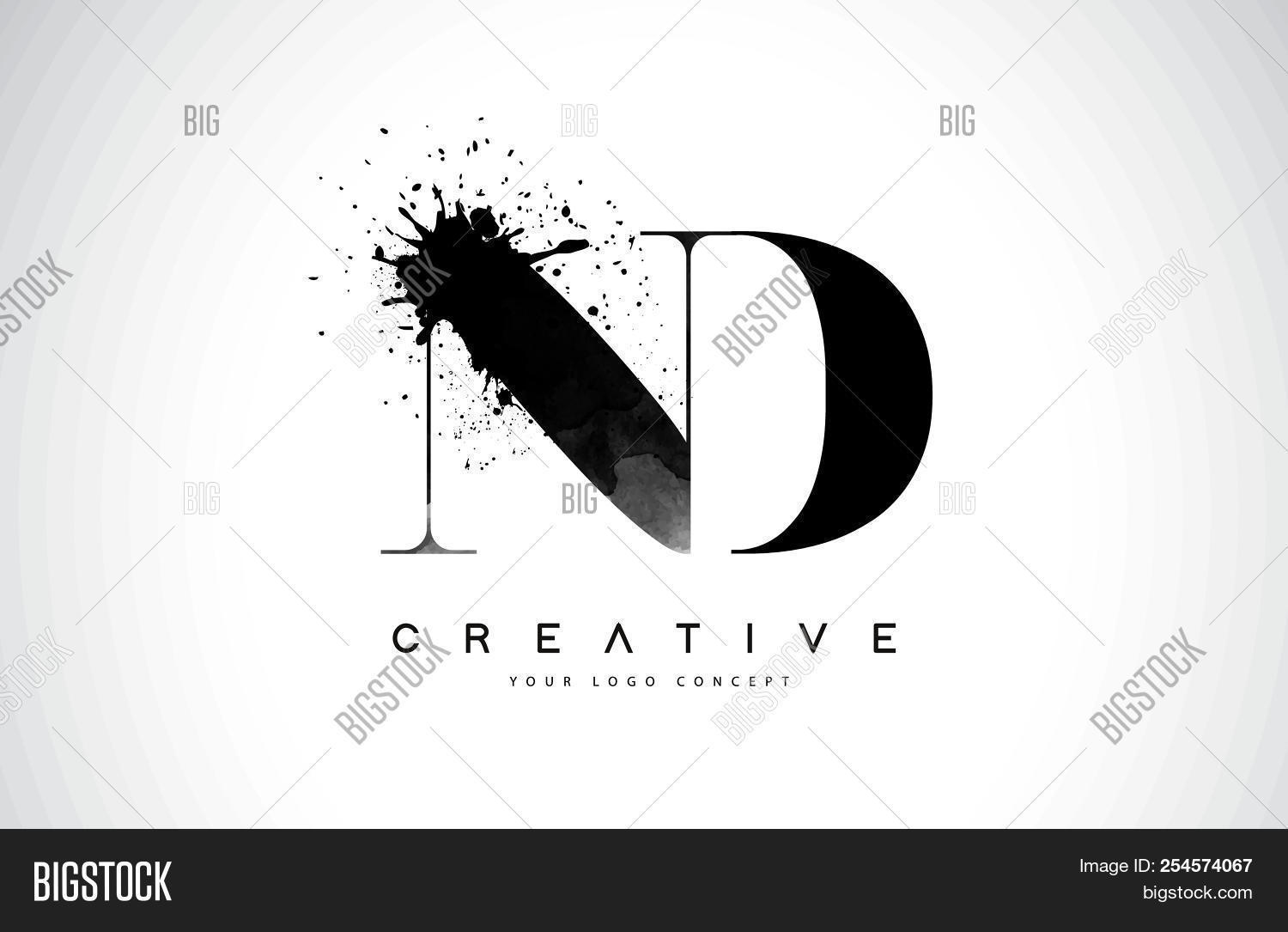 Nd N D Letter Logo Vector Photo Free Trial Bigstock