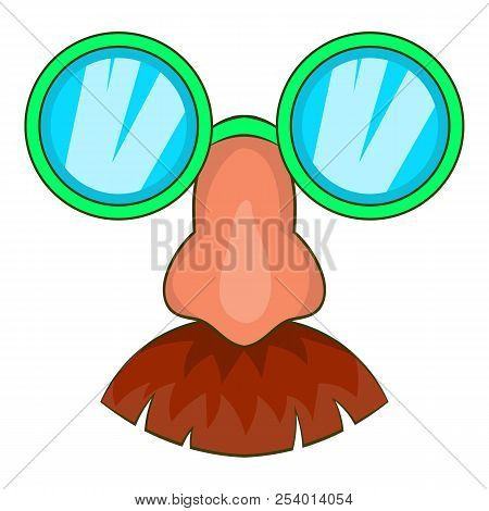 Disguise Mask Icon In Cartoon Style Isolated On White Background Illustration