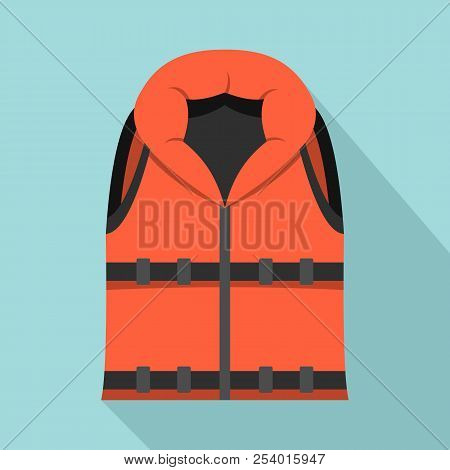 Lifeguard Vest Icon. Flat Illustration Of Lifeguard Vest Icon For Web Design