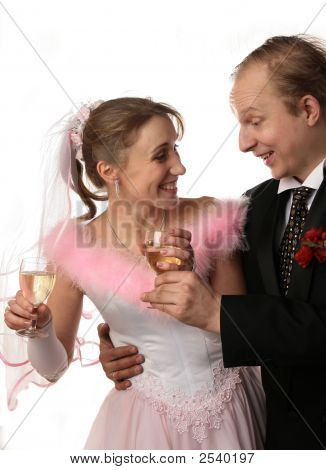 The Fiancee And Bridegroom At A Wedding