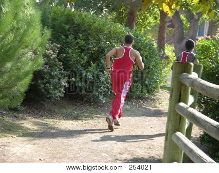 Two Teens Jogging