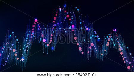 Big Data Visualization. Futuristic Infographic. Information Aesthetic Design. Visual Data Complexity