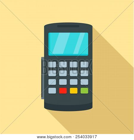 Payment Digital Bank Terminal Icon. Flat Illustration Of Payment Digital Bank Terminal Vector Icon F
