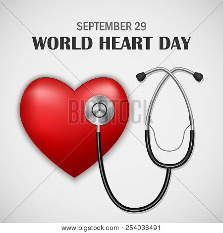 World Heart Day Concept Background. Realistic Illustration Of World Heart Day Vector Concept Backgro