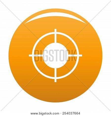 Far Target Icon. Simple Illustration Of Far Target Vector Icon For Any Design Orange