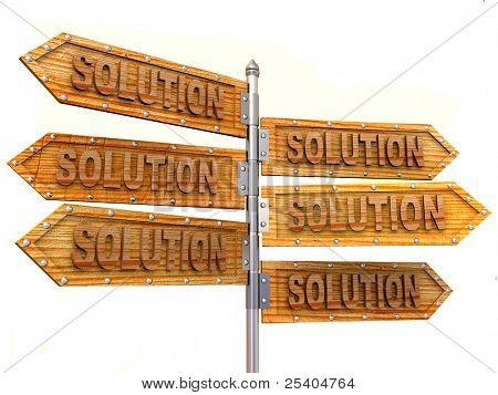 blank arrows directions. Solution