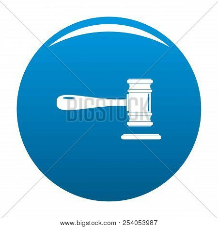 Court Icon. Simple Illustration Of Court Icon For Any Design Blue