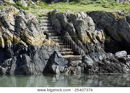 Steps In Cliff