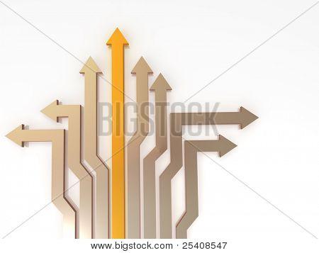 Arrows. Solutions. 3d
