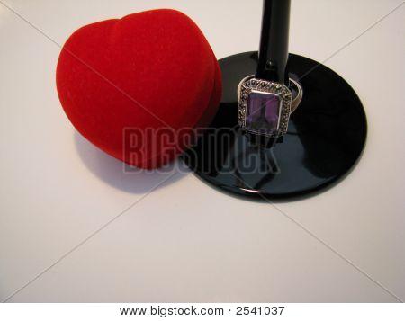 Valentine Gift Of Amethyst Ring
