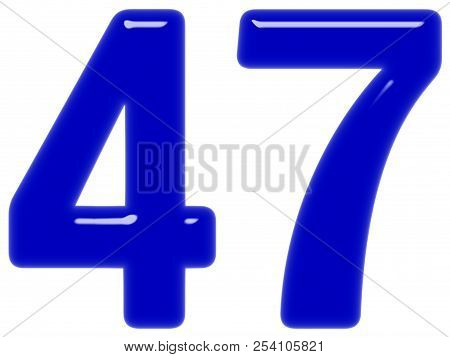 Numeral 47, Forty Seven, Isolated On White Background, 3d Render