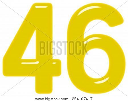 Numeral 46, Forty Six, Isolated On White Background, 3d Render