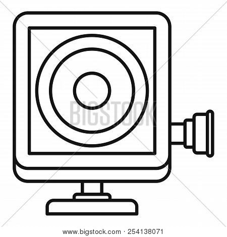 Action Camera Icon. Outline Illustration Of Action Camera Icon For Web Design Isolated On White Back