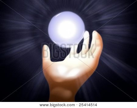 Hand with Glowing Sphere