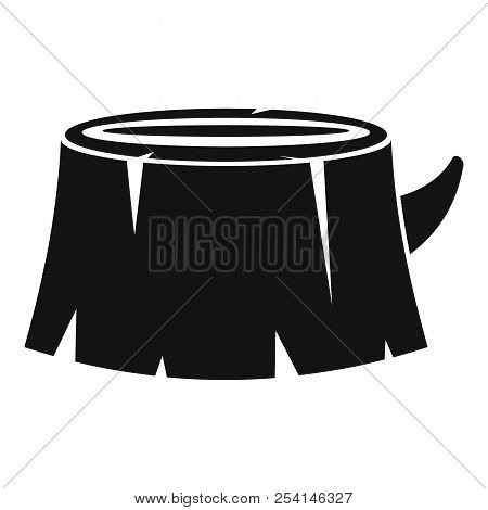 Old Tree Stump Icon. Simple Illustration Of Old Tree Stump Icon For Web Design Isolated On White Bac