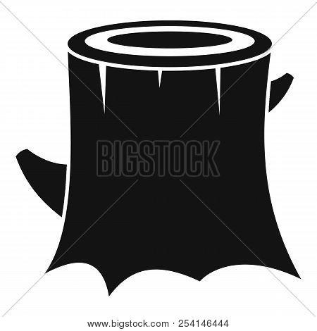 Fresh Tree Stump Icon. Simple Illustration Of Fresh Tree Stump Icon For Web Design Isolated On White