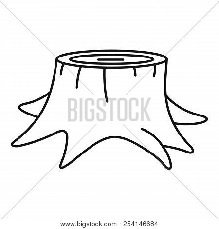 Young Tree Stump Icon. Outline Illustration Of Young Tree Stump Icon For Web Design Isolated On Whit