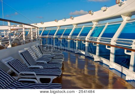 Lounge Chairs On Cruise Ship