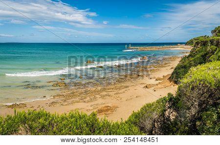 Mallacoota Beach In Victoria, Australia, In The Summer