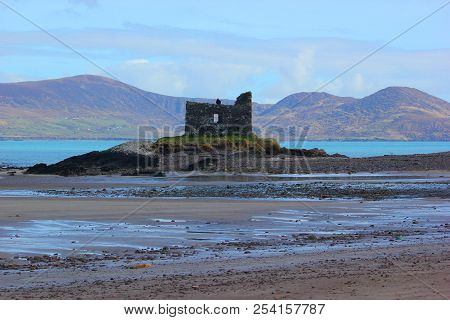 A Castle In Ireland At Low Tide