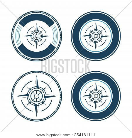 Compass Icon Isolated On White Background. Compass Vector Logo. Flat Design Style. Modern Vector For